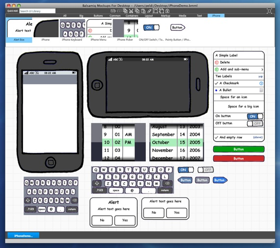 balsamiq-iPhone-controllers