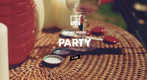 mtv gif me more party start MTV Gif Me More Party İlk İnteraktif Müzik Video