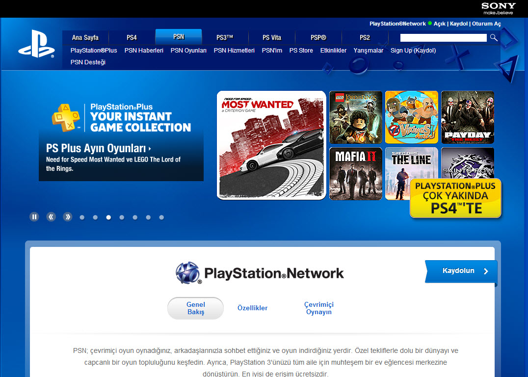playstationnetwork psn PlayStation Network (PSN) Nedir? PlayStation Plus Nedir?