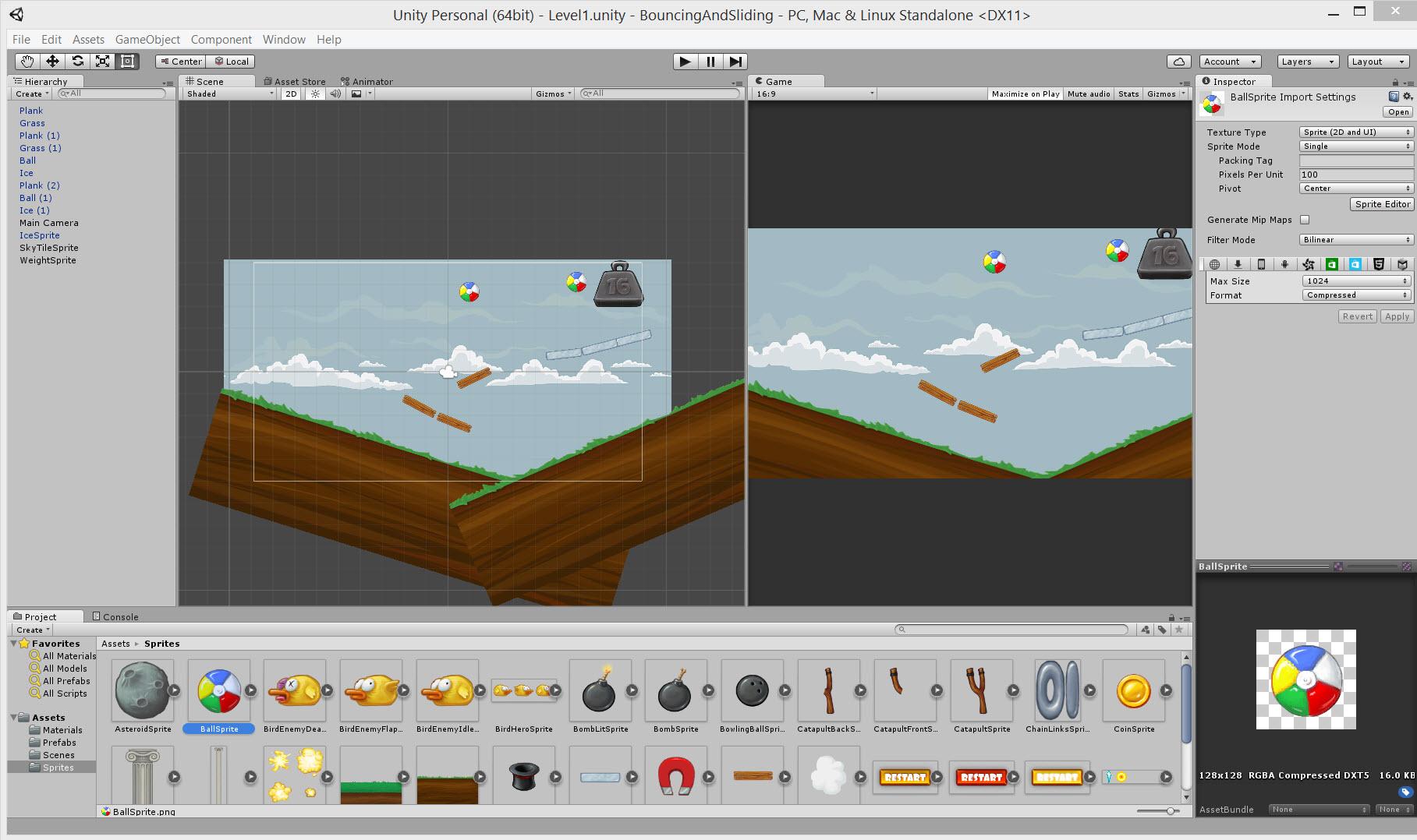 unity 2d oyun fizigi ornek uygulama Kod Yazmadan Unity 2D Oyun Fiziklerini Kullanmak