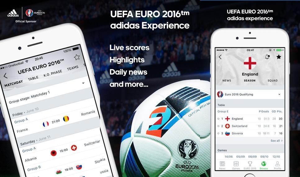 onefootball euro 2016 app Euro 2016 En İyi Mobil Uygulamaları