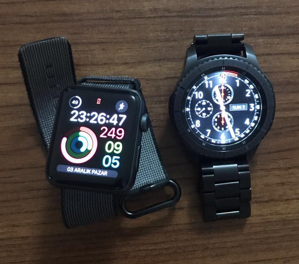 samsung gear s3 vs apple watch 2 Yurt Dışından Samsung Gear S3 ve Apple Watch Kordonu Almak